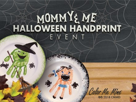 MOMMY & ME Halloween Hand Print Event!