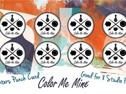 Painters Punch Card - 8 Studio Fees for $30 (on sale til Nov 15, 2018)
