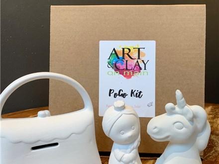 PoGo Kits: Paint Your own Pottery TOGO (Princess Party Kit)