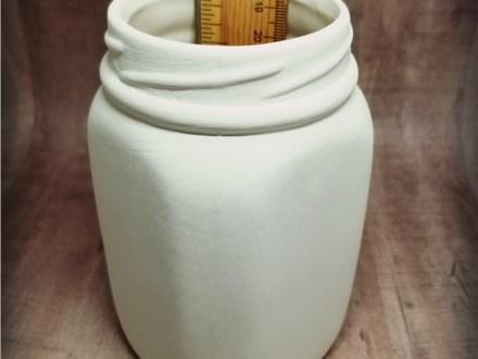Ceramic Mason Jar - Ready to Paint