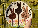 """"""" Pottery Dinner Plate"""" To-Go Kit- at Color Me Mine - Aspen"""