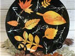 Leaves of Fall Plate Class on First Friday, November 1st