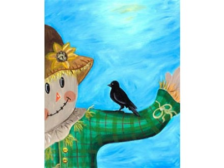 """""""Scarecrow and Friend"""" Canvas Class, November 9th"""
