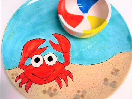 CRABBY CREATION - PLATE & BOWL SET
