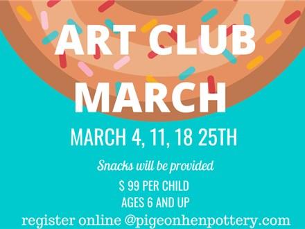ART CLUB MARCH: All 4 Weeks