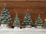 HEIRLOOM LIGHTED  CHRISTMAS TREES