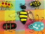 Some examples of glass fusing bugs made last year!