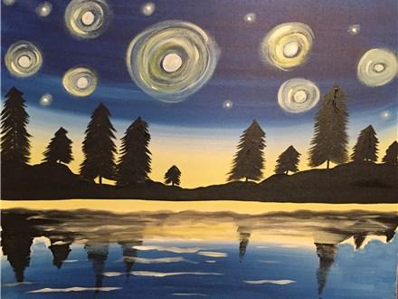 "Canvas Night ""Twilight Sky"" Saturday, March 18th 7-10pm"