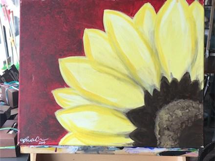 "Canvas Night ""Sunflower"" Saturday, May 20th 7-10p"