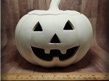 Large Jack-O-Lantern with Removable Lid - Ready to Paint