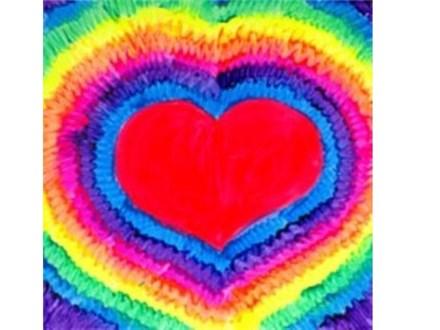 Kids' Canvas Class!  Neon Love!  7/16/16