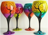 Buy One Get One Free Wine Glass Painting Class BYOB September 5th