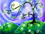 Whimsical Tree Canvas at TCB The Corner Biergarten Apr 12th
