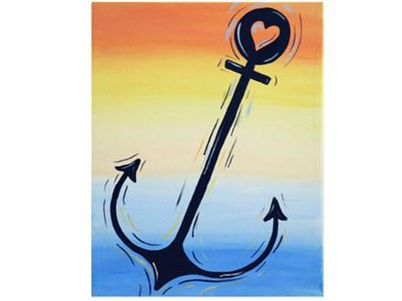 """""""Love Anchor"""" Paint Class by Rachel Sharpe"""