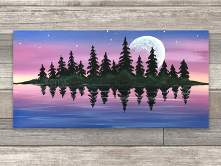"""""""Calm Waters"""" Canvas Class ages 21 & up 8/7/20"""