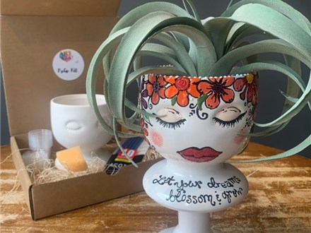 PoGo Kits: Paint Your Own Pottery ToGo! (Face Planter)