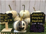 Boujee Pumpkin Painting For KIDS!