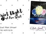 """Patriotic Fireworks"" Paint Night, July 8th"