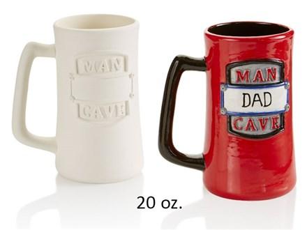 PoGo Kits: Paint Your Own Pottery ToGo! (Man Cave Mug)