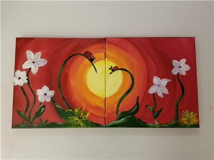 Love Bugs Mommy & Me Canvas Class (Age 4 and up) $50
