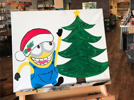 Kids Night Out Canvas! 'Minion Twinkle Light Tree' Friday, December 22nd 6p-8p