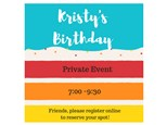 Kristy's Birthday - Private Party - August 18
