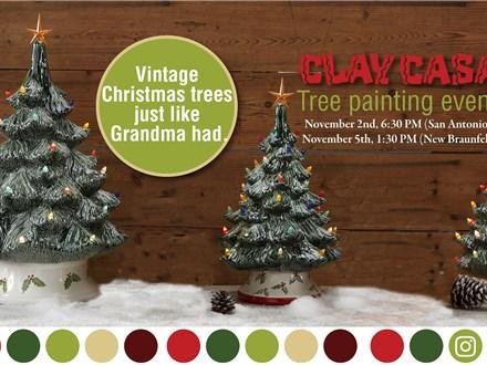 Paint a Medium Christmas Tree San Antonio