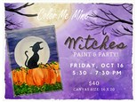 Canvas Class:  Witches Paint & Party - October 16
