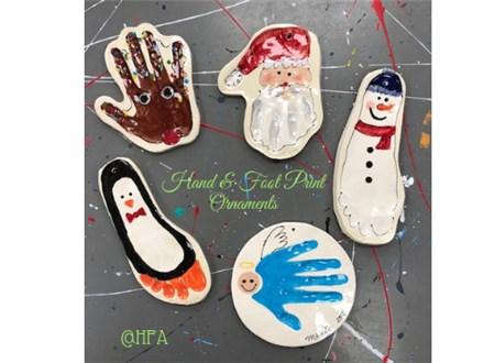 Holiday Clay Handprint & Footprints!