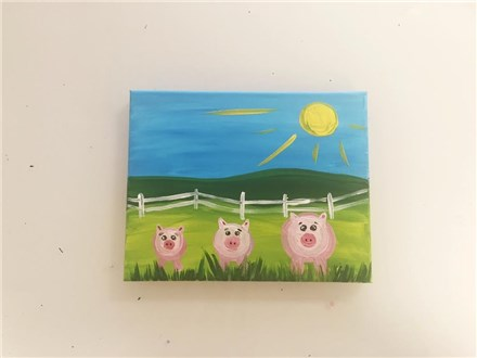 Oink! Oink! (Mommy/Daddy and Me ages 4+) Canvas Class
