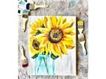 Sunflower Vase Paint Class