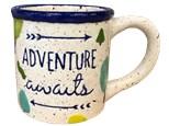 """ Happy Camper- Adventure Awaits Mug""- at Color Me Mine - Aspen"