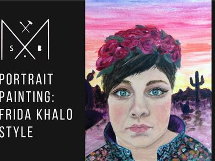Portrait Painting like Frida Kahlo