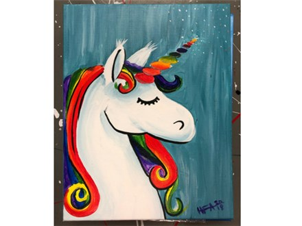 Kids Night! Unicorn Canvas