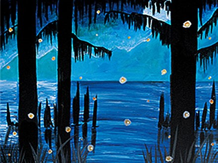 Canvas Class: Evening on the Bayou (Light Up) - May 25