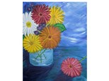 Canvas Painting - Gerber Daisy's  Saturday, February 20th 6:30