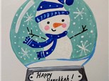Hanukkah Class - Kids Snow Globe Canvas
