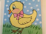 Easter Chick Kids Canvas Class