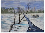 Winter Snow Scene - Canvas - Paint and Sip