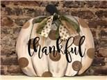 Oct. 5th thankful pumpkin class