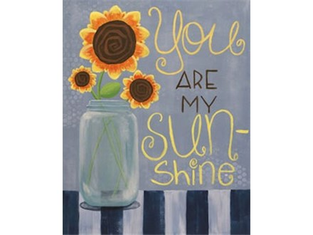 You Are My Sunshine Canvas Class at CozyMelts