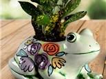 """ Frog Planter"" To-Go Kit- at Color Me Mine - Aspen"
