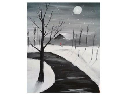 Snowy Path - Paint & Sip - Feb 16