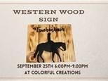 Wood Sign Class