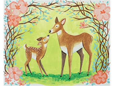 Love You Deer-ly Canvas Class at CozyMelts