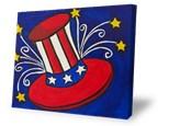 Summer Camp Monday, July 2 Patriotic Hat Canvas