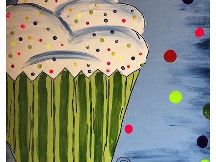 Cupcake Kid Canvas