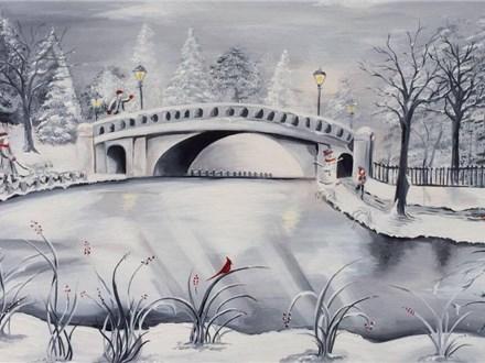 "Canvas Night, ""Peaceful Winter"" January 22nd 7-10"