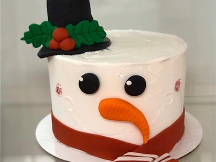 """Parent/Child """"FROSTED"""" The Snowman Cake Class"""