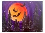 Freakin' Bats! Paint Class @ Just Tap'd